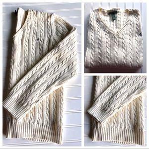 Ralph Lauren V Neck Knit Sweater